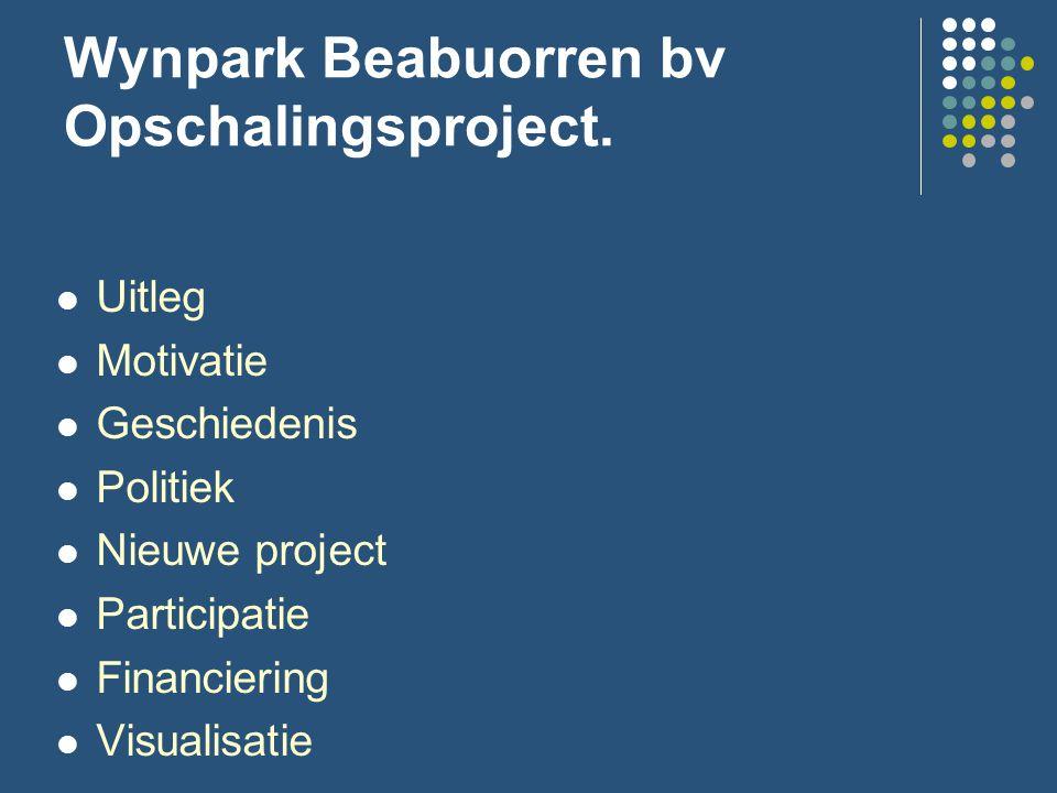 Wynpark Beabuorren bv Opschalingsproject.