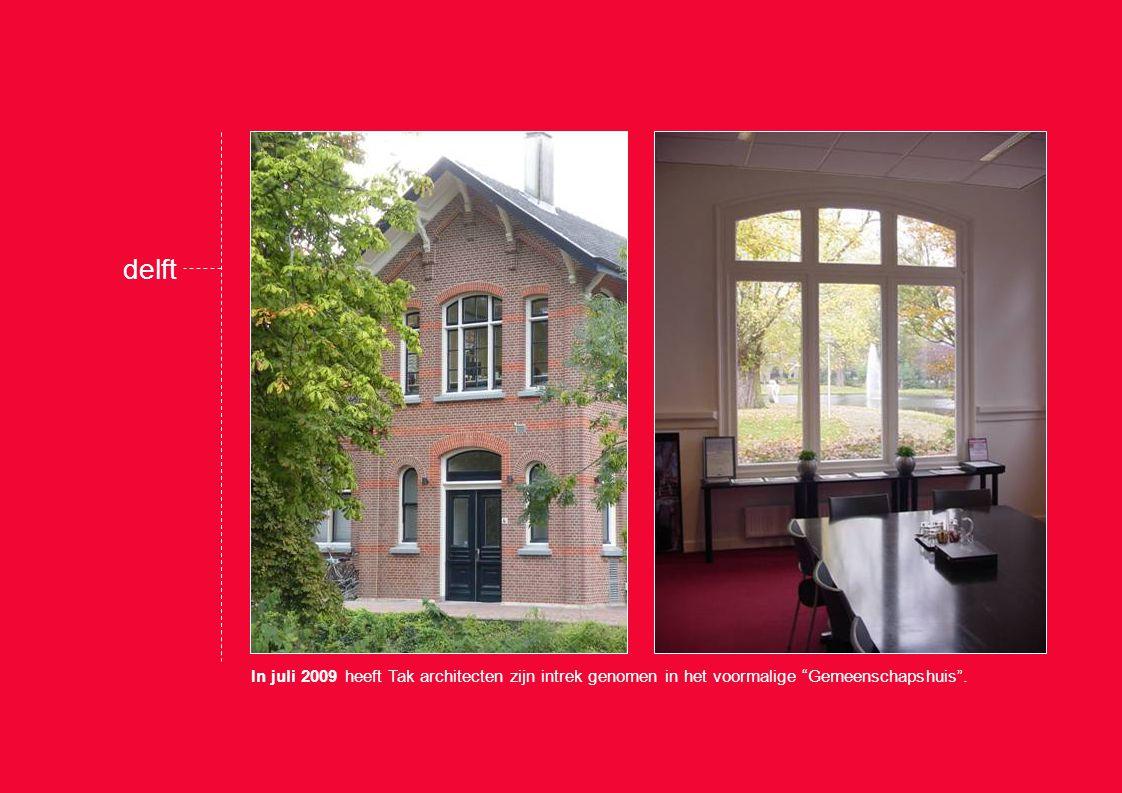 In juli 2009 heeft Tak architecten zijn intrek genomen in het voormalige Gemeenschapshuis .