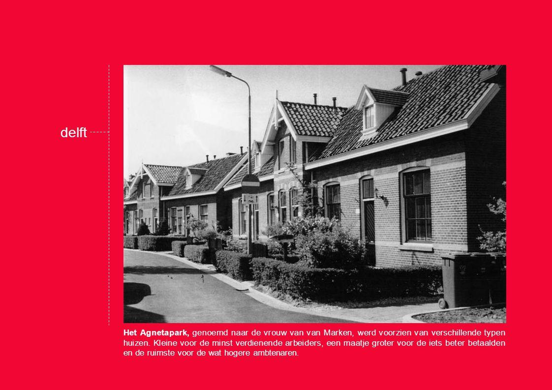 Het Agnetapark, genoemd naar de vrouw van van Marken, werd voorzien van verschillende typen huizen.