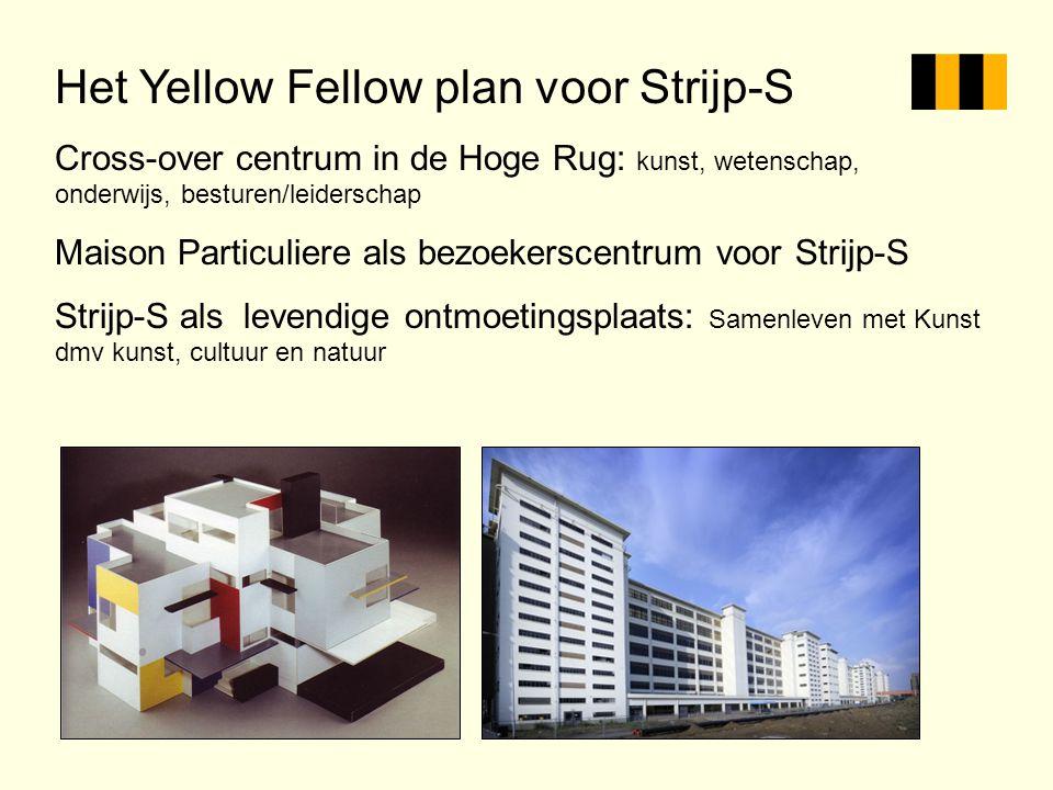 Het Yellow Fellow plan voor Strijp-S Cross-over centrum in de Hoge Rug: kunst, wetenschap, onderwijs, besturen/leiderschap Maison Particuliere als bez