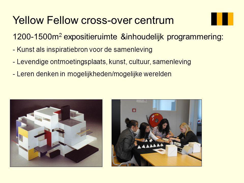 Yellow Fellow cross-over centrum 1200-1500m 2 expositieruimte &inhoudelijk programmering: - Kunst als inspiratiebron voor de samenleving - Levendige o