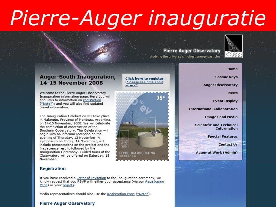 Pierre-Auger inauguratie