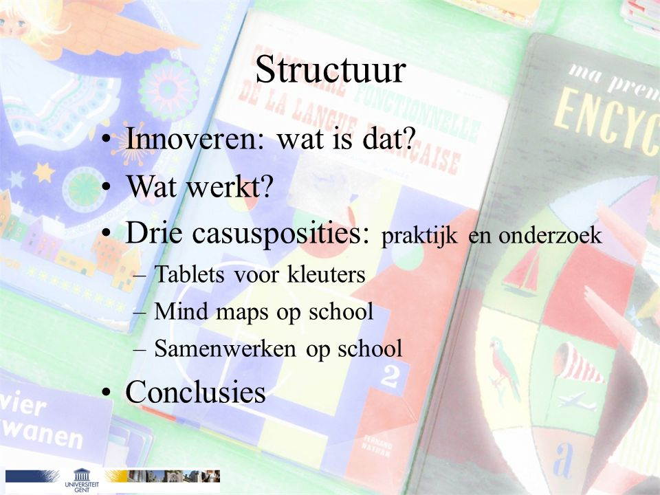Voorbeeld 2: Mindmapping Mindmapping op school.
