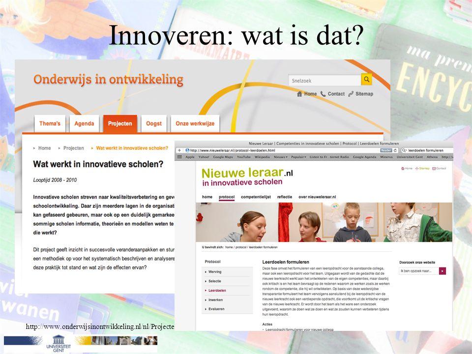 Innoveren: wat is dat? Voorbeeld: Gebruik van een mindmap