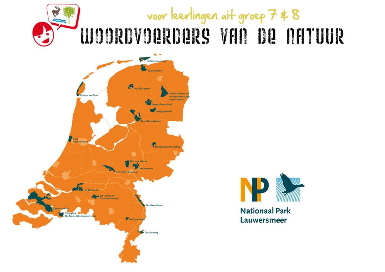 Op bezoek in het Nationaal Park Lauwersmeer komen jullie met de groep naar Activiteitencentrum De Bosschuur bij Staatsbosbeheer te Lauwersoog om Woordvoerders van de Natuur te worden.