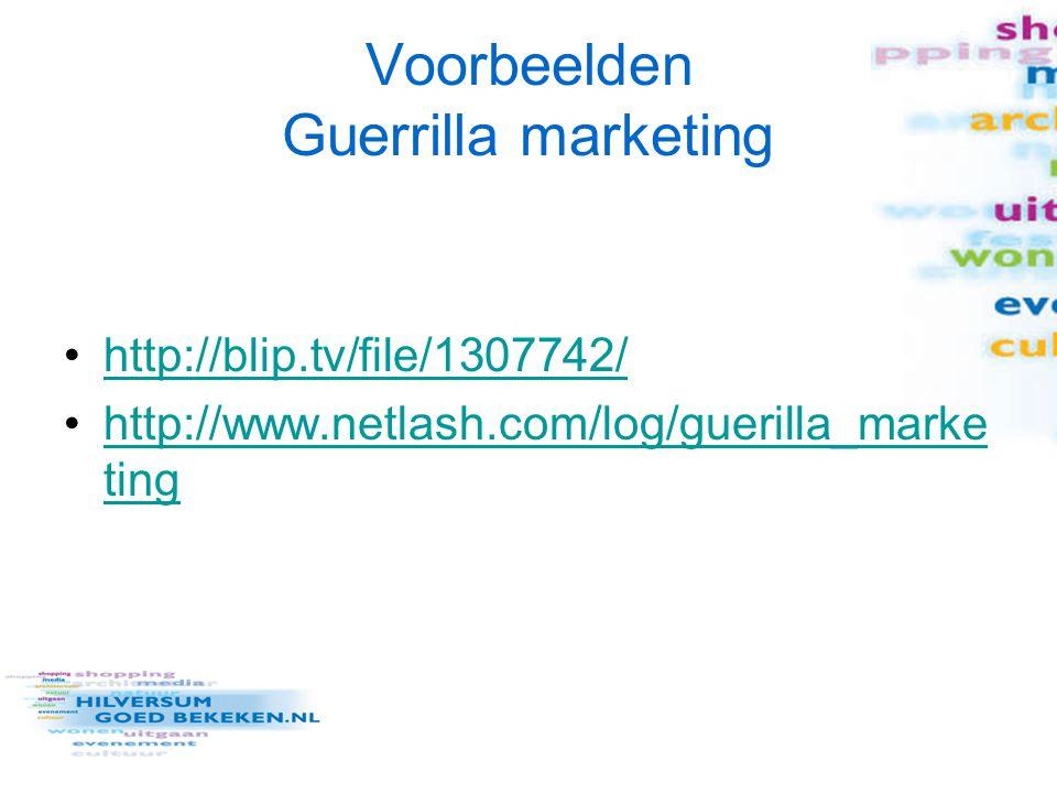 http://blip.tv/file/1307742/ http://www.netlash.com/log/guerilla_marke tinghttp://www.netlash.com/log/guerilla_marke ting