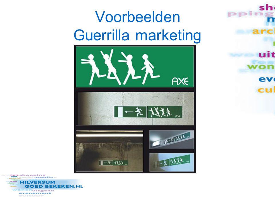 Campagne Hilversum Voorzet doelstelling: –Hoe kan Hilversum Goed Bekeken via guerrilla marketing meer aandacht genereren voor Hilversum van de media en architectuur liefhebbers/ bezoekers Media Park/ werknemers van Hilversumse bedrijven/ … (keuze maken!) Relevant USP vaststellen