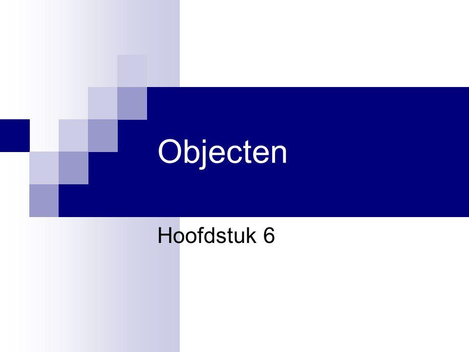 Objecten Hoofdstuk 6