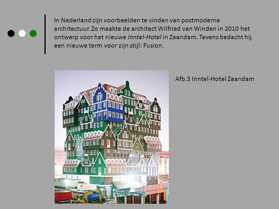 In Nederland zijn voorbeelden te vinden van postmoderne architectuur. Zo maakte de architect Wilfried van Winden in 2010 het ontwerp voor het nieuwe I