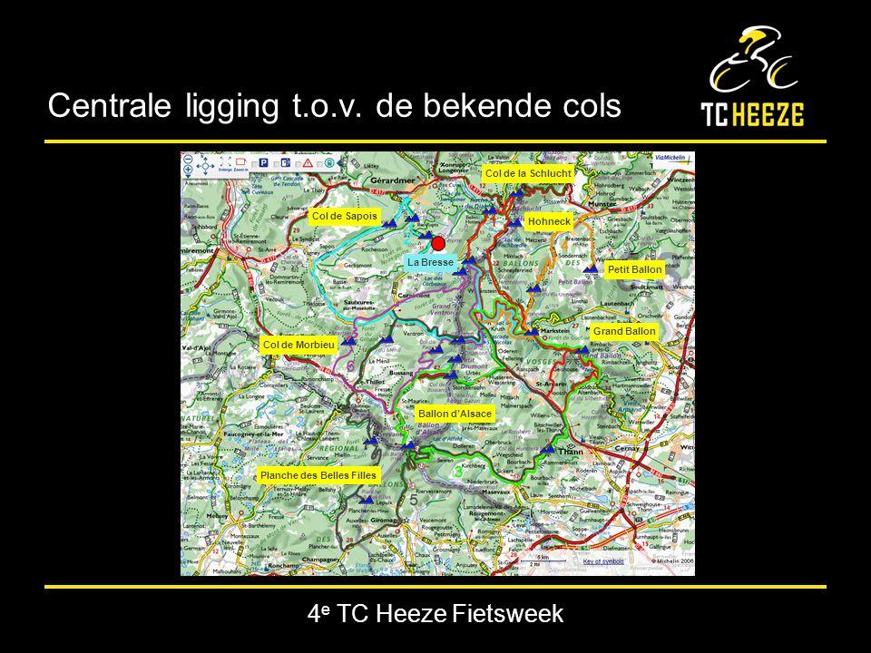 4 e TC Heeze Fietsweek Centrale ligging t.o.v.