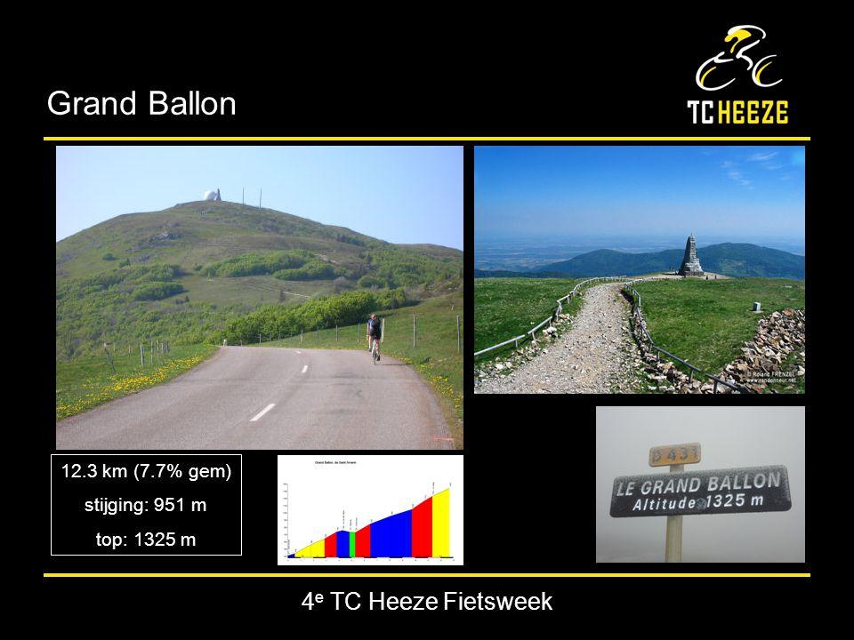 4 e TC Heeze Fietsweek Grand Ballon 12.3 km (7.7% gem) stijging: 951 m top: 1325 m