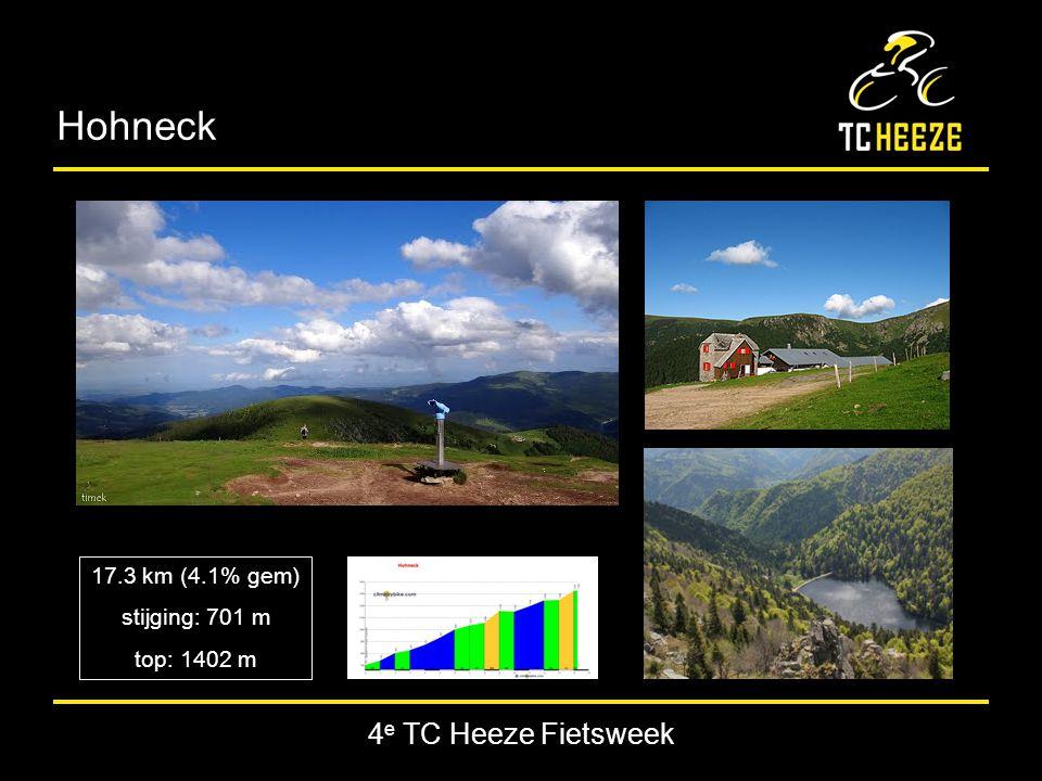 4 e TC Heeze Fietsweek Hohneck 17.3 km (4.1% gem) stijging: 701 m top: 1402 m