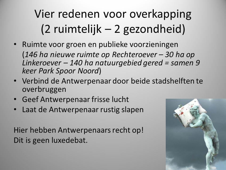 Stap 6: Begin aan de overkapping van de ring 2013: selectie van delen van de Antwerpse ring die overkapt/ingetunneld kunnen worden Hou daarbij rekening met de beperkingen opgelegd door de Tunnelrichtlijn (geen aftakkingen/op- en afritten onder de grond) – bijv.
