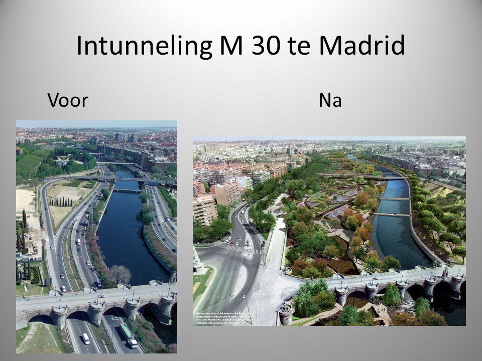 Intunneling M 30 te Madrid Voor Na