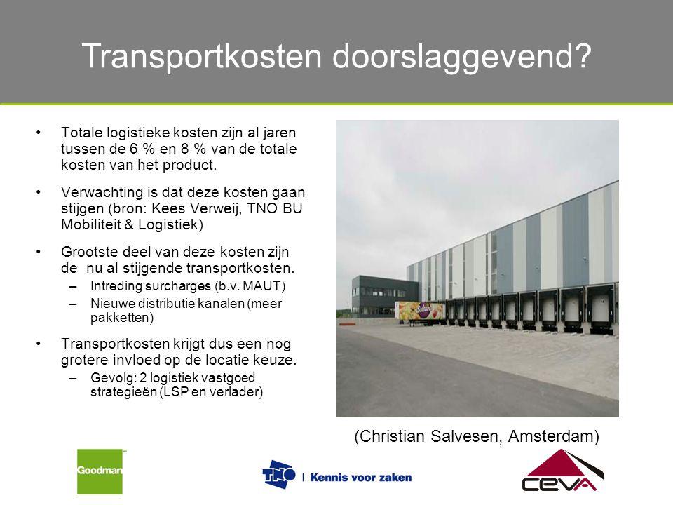 De verschillende eisen van verladers en logistiek dienstverleners Totale logistieke kosten zijn al jaren tussen de 6 % en 8 % van de totale kosten van