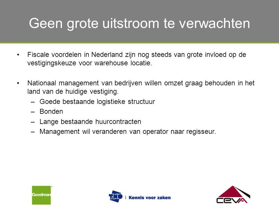 De verschillende eisen van verladers en logistiek dienstverleners Fiscale voordelen in Nederland zijn nog steeds van grote invloed op de vestigingskeu