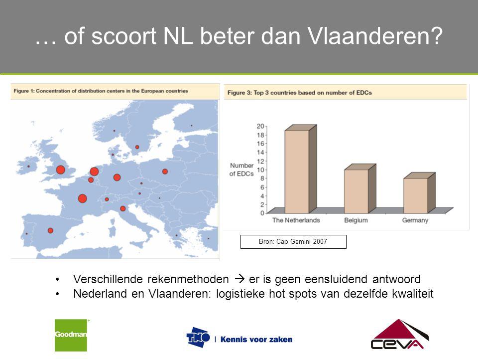 … of scoort NL beter dan Vlaanderen? Bron: Cap Gemini 2007 Verschillende rekenmethoden  er is geen eensluidend antwoord Nederland en Vlaanderen: logi