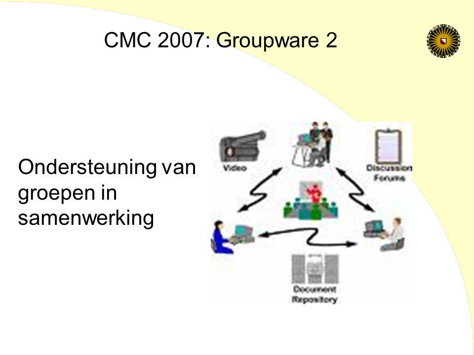 Ondersteuning van groepen in samenwerking CMC 2007: Groupware 2
