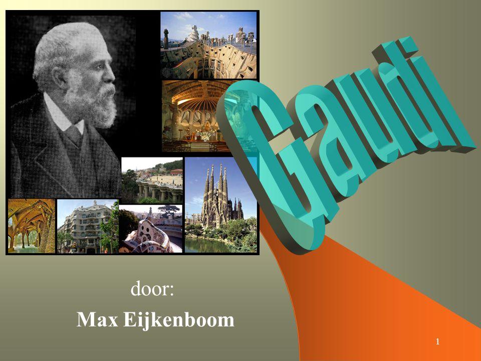 2 Inhoud Biografie – Geboorte / sterfdatum – Woonplaats – Studie / beroep Werk – Casa Batlló – Sagrada Família