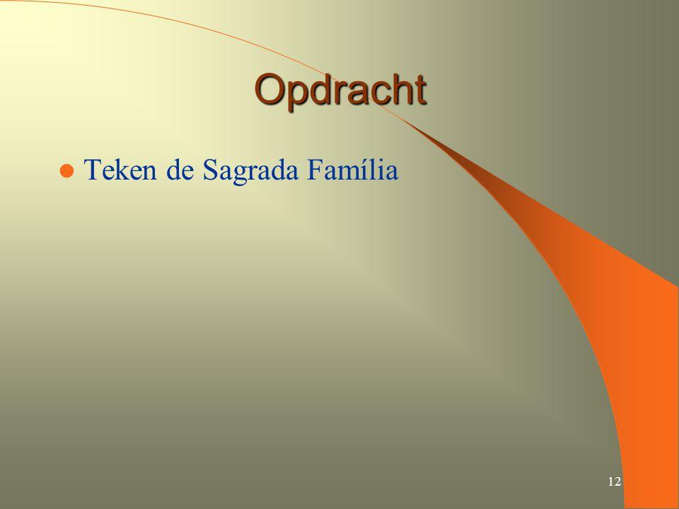 12 Opdracht Teken de Sagrada Família