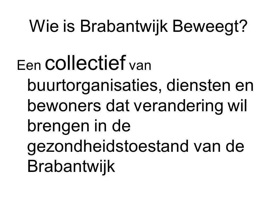 Wie is Brabantwijk Beweegt? Een collectief van buurtorganisaties, diensten en bewoners dat verandering wil brengen in de gezondheidstoestand van de Br