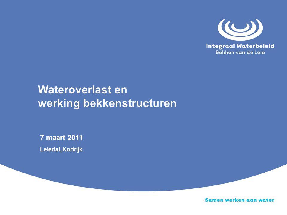 7 maart 2011 Leiedal, Kortrijk Wateroverlast en werking bekkenstructuren