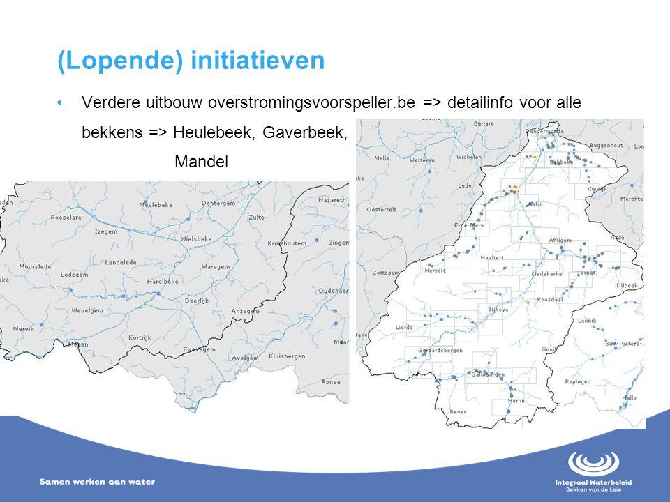 (Lopende) initiatieven Verdere uitbouw overstromingsvoorspeller.be => detailinfo voor alle bekkens => Heulebeek, Gaverbeek, Mandel