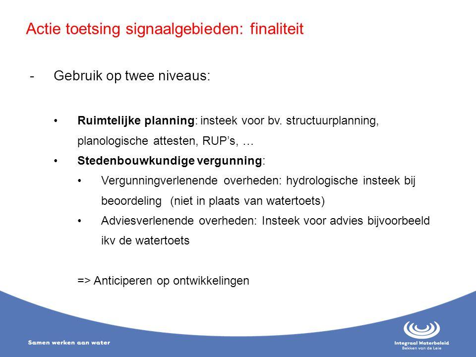 -Gebruik op twee niveaus: Ruimtelijke planning: insteek voor bv. structuurplanning, planologische attesten, RUP's, … Stedenbouwkundige vergunning: Ver