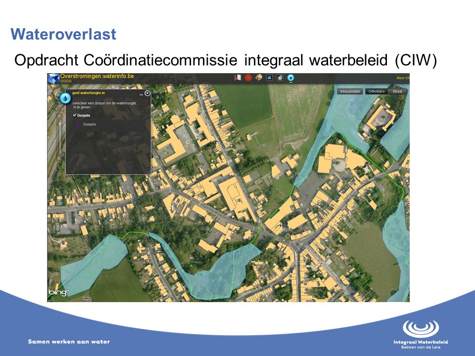 Wateroverlast Opdracht Coördinatiecommissie integraal waterbeleid (CIW)