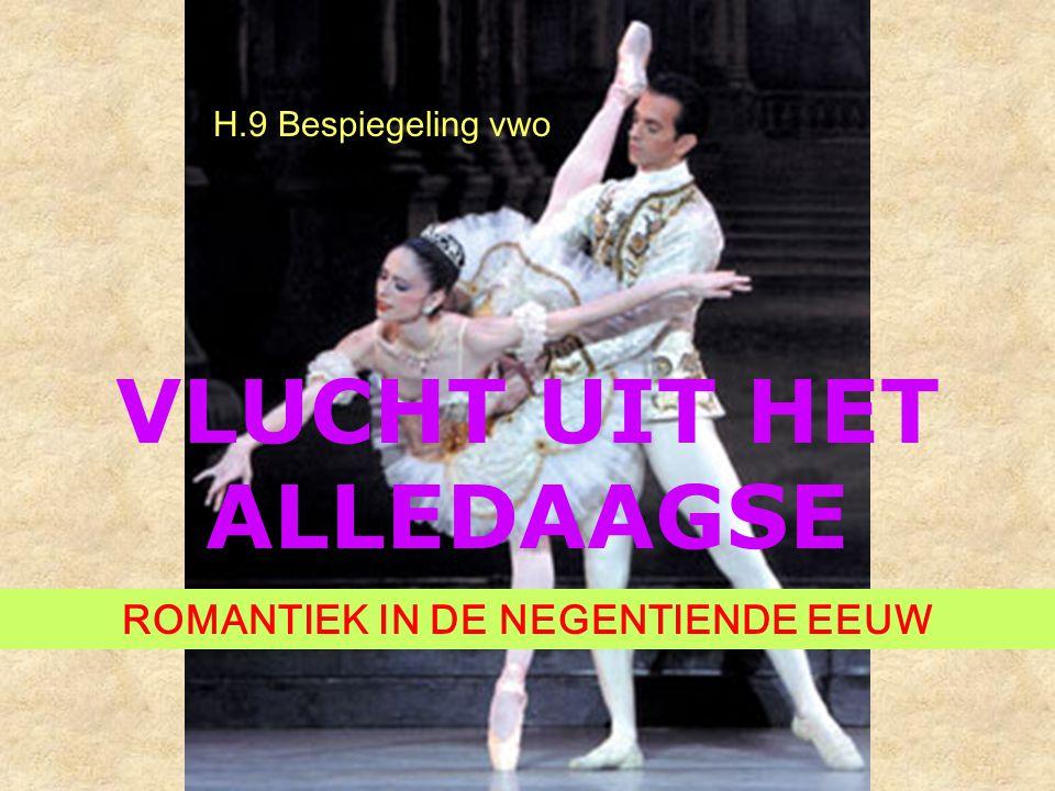 VLUCHT UIT HET ALLEDAAGSE ROMANTIEK IN DE NEGENTIENDE EEUW H.9 Bespiegeling vwo
