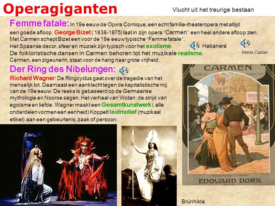 Operagiganten Femme fatale: In 19e eeuw de Op é ra Comique, een echt familie-theateropera met altijd een goede afloop.