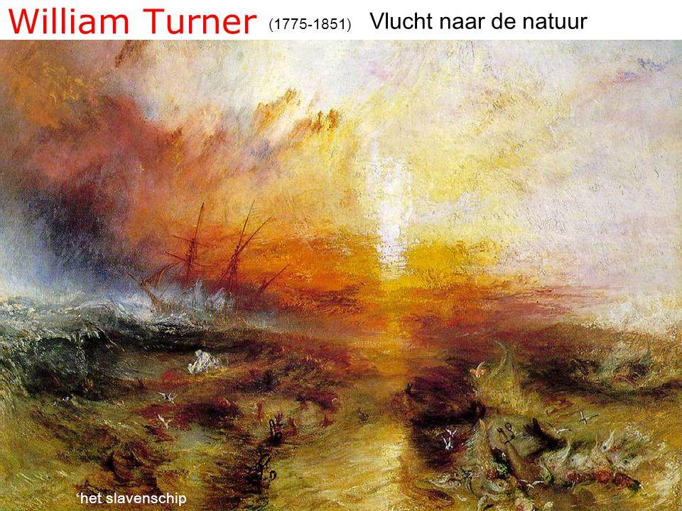 William Turner (1775-1851) ' het slavenschip Vlucht naar de natuur