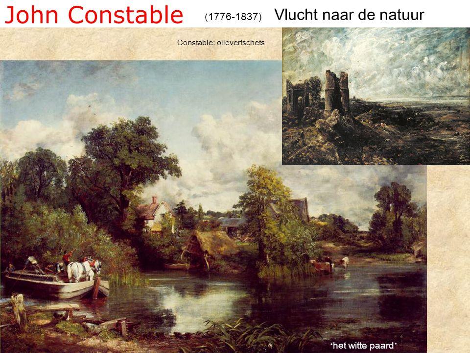 John Constable (1776-1837) Constable: olieverfschets Vlucht naar de natuur ' het witte paard '