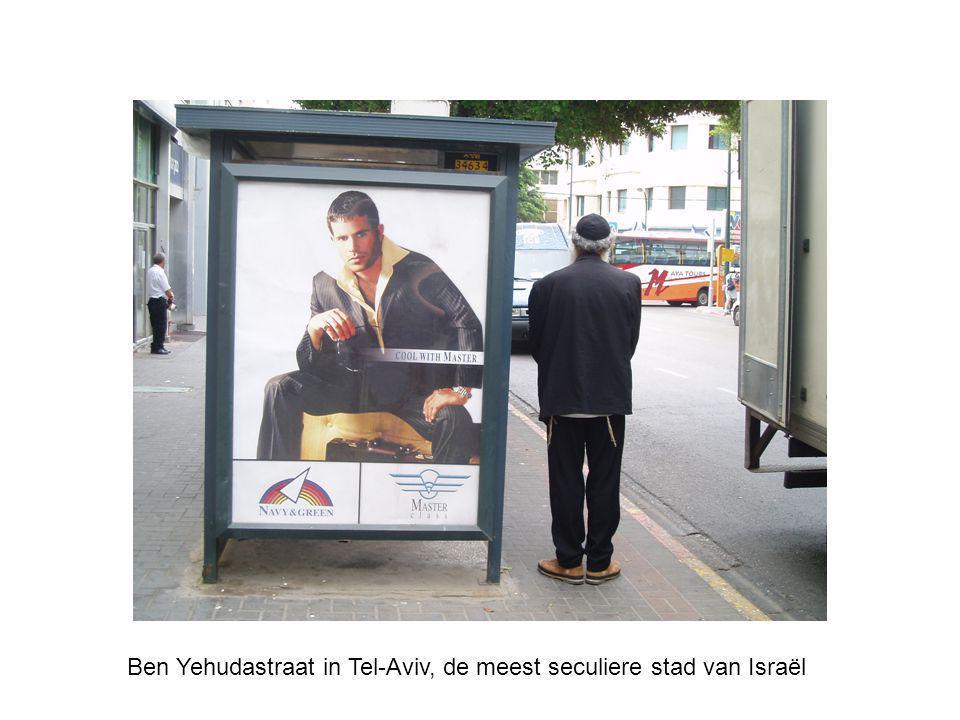 Ben Yehudastraat in Tel-Aviv, de meest seculiere stad van Israël