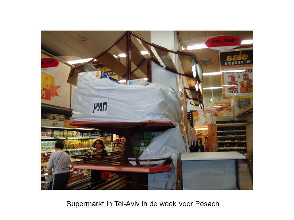 Supermarkt in Tel-Aviv in de week voor Pesach