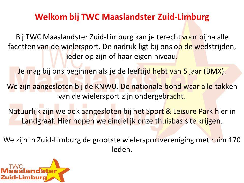 Bij TWC Maaslandster Zuid-Limburg kan je terecht voor bijna alle facetten van de wielersport. De nadruk ligt bij ons op de wedstrijden, ieder op zijn