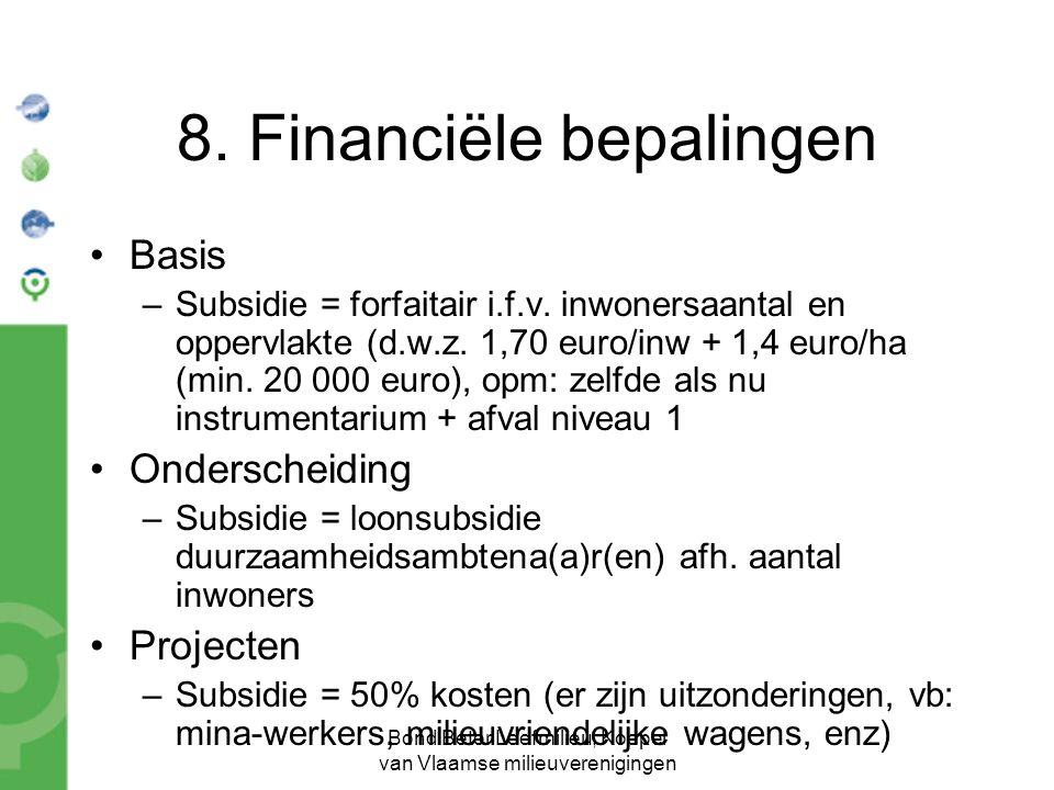 Bond Beter Leefmilieu, Koepel van Vlaamse milieuverenigingen 8.