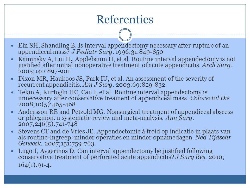 Referenties Ein SH, Shandling B.