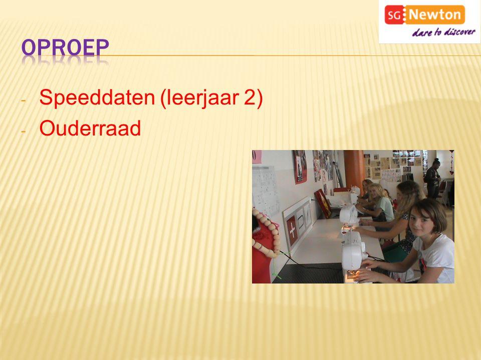 - Speeddaten (leerjaar 2) - Ouderraad