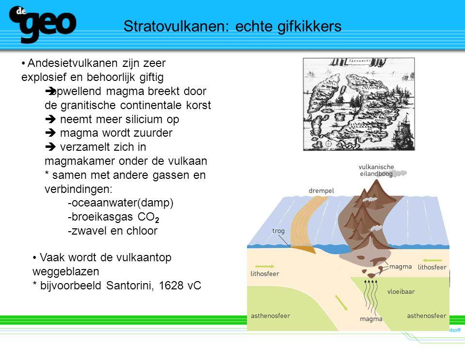 Stratovulkanen: niet overal en nergens Welke tektonische gebeurtenis laat de grafiek (onder) zien.