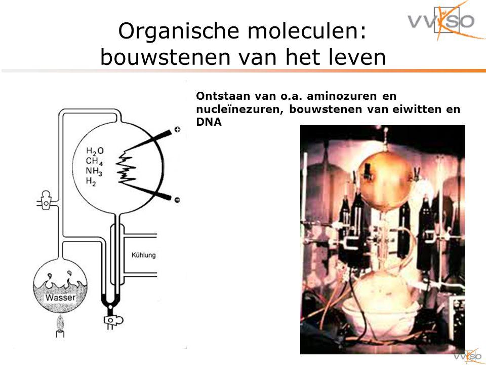 Organische moleculen: bouwstenen van het leven Ontstaan van o.a.