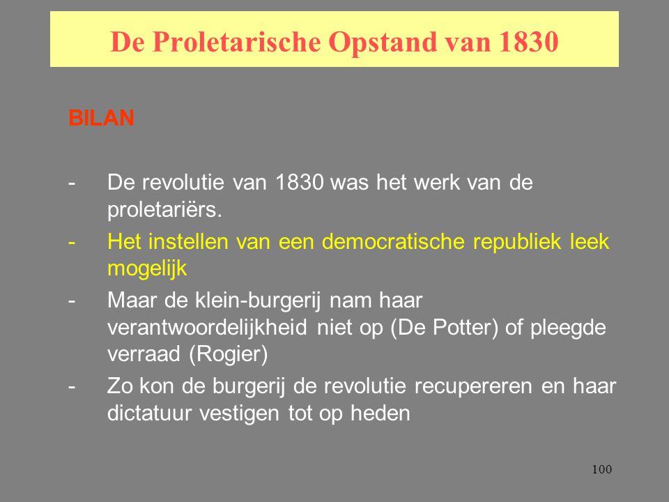 100 De Proletarische Opstand van 1830 BILAN -De revolutie van 1830 was het werk van de proletariërs.