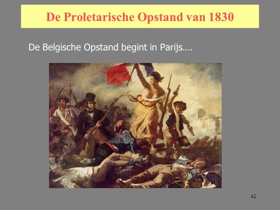 42 De Proletarische Opstand van 1830 De Belgische Opstand begint in Parijs….
