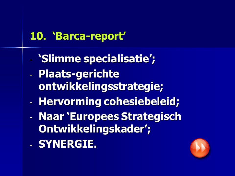 11. BELEIDSMIX R&D, Innov., ICT-investeringen op regionaal vlak (bron: Europese Commissie)