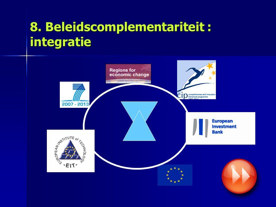 8. Beleidscomplementariteit : integratie