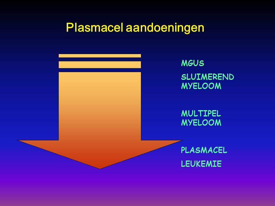 MGUS SLUIMEREND MYELOOM MULTIPEL MYELOOM PLASMACEL LEUKEMIE Plasmacel aandoeningen