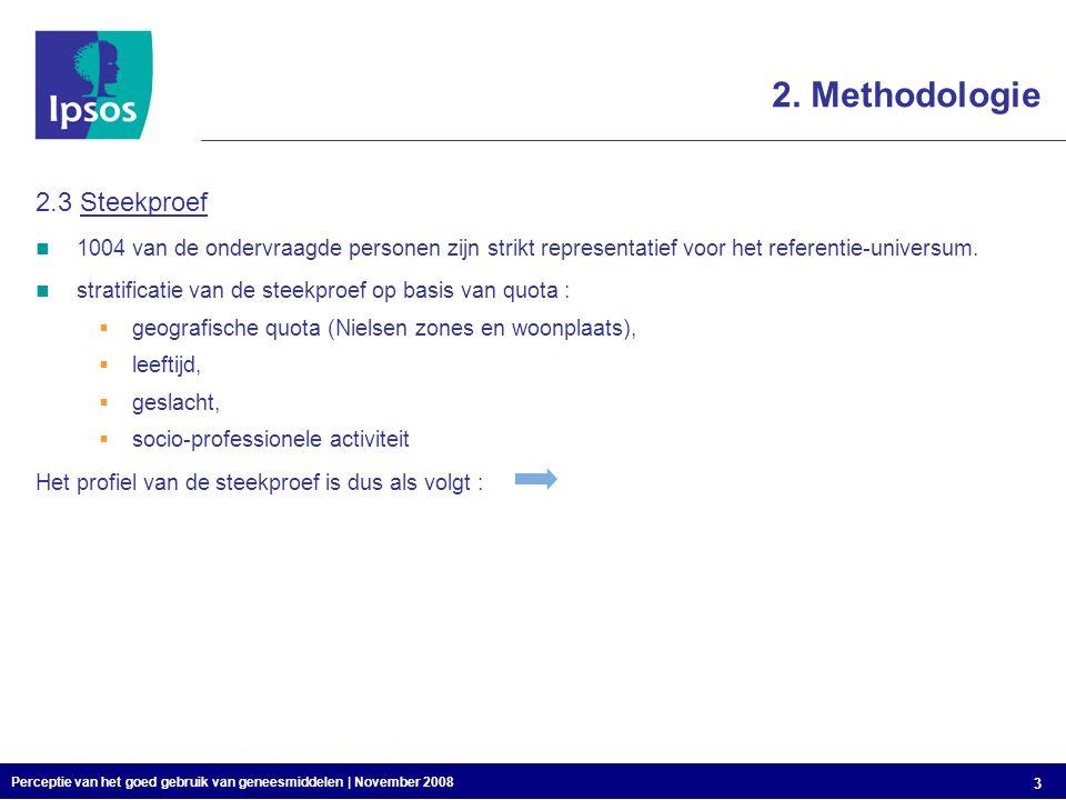 Perceptie van het goed gebruik van geneesmiddelen | November 2008 3 2.