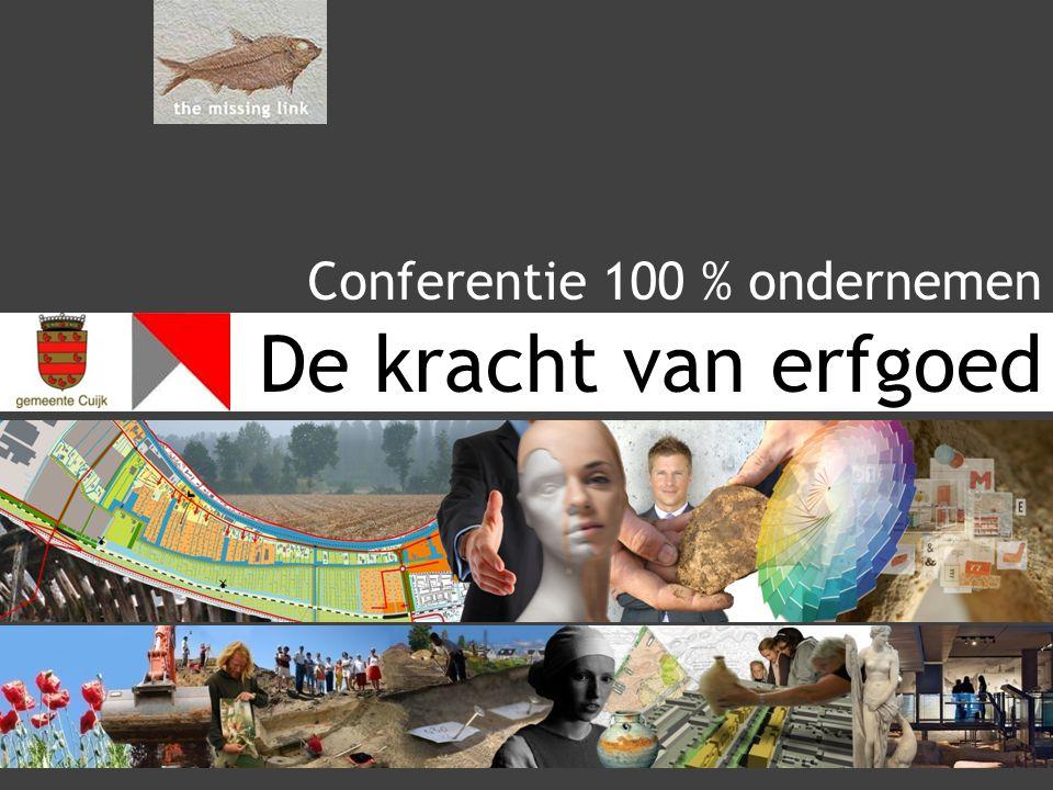 De kracht van erfgoed Conferentie 100 % ondernemen