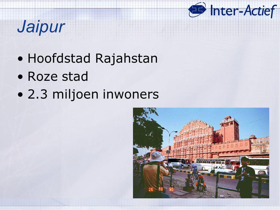 Jaipur Hoofdstad Rajahstan Roze stad 2.3 miljoen inwoners