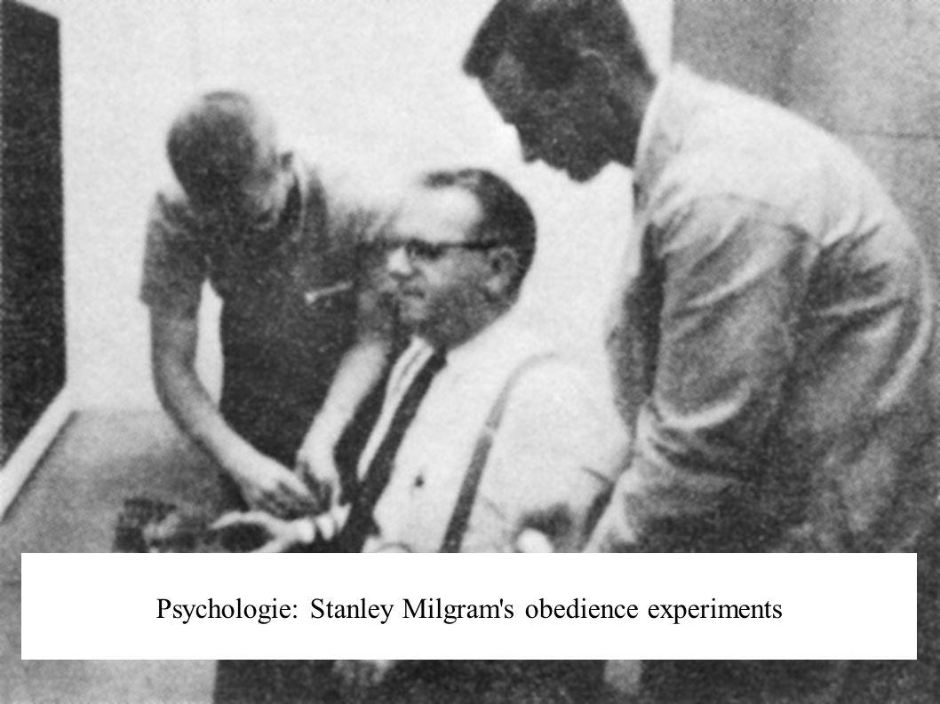 Psychologie: Stanley Milgram's obedience experiments
